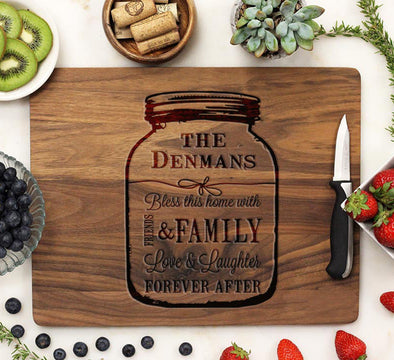 "Cutting Board ""Denmans - Mason Jar"""