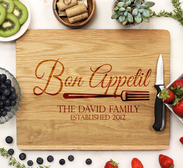 "Cutting Board ""Bon Appetit - David Family"""