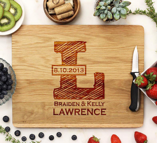 "Cutting Board ""Lawrence Sketch Initial"""