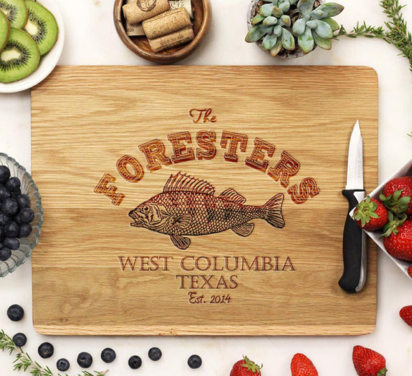 "Cutting Board ""Foresters - Fish"""