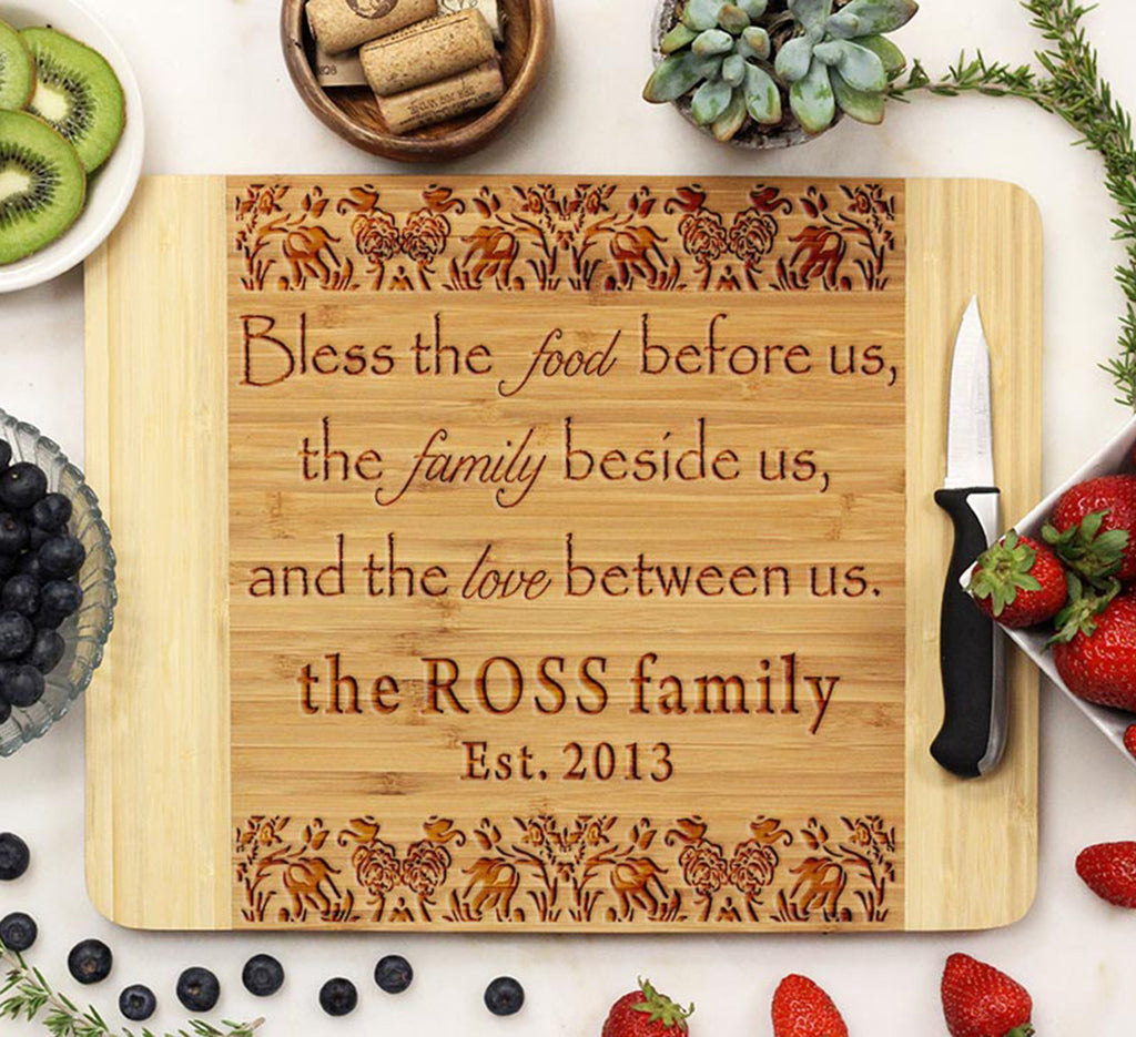 Bless The Food Before Us Family Cutting Board