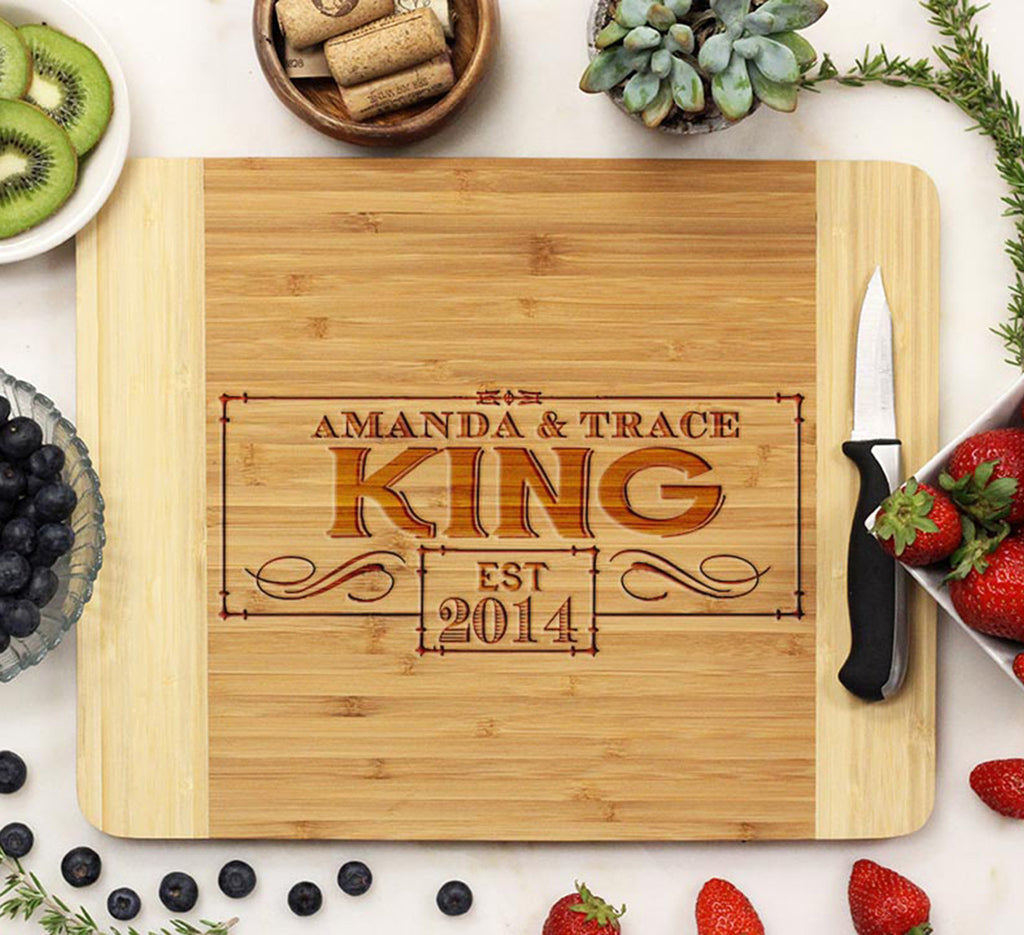 "Cutting Board ""King - Fancy Border"""