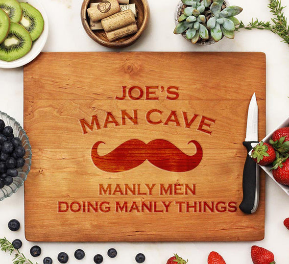 "Cutting Board ""Joe's Man Cave"""
