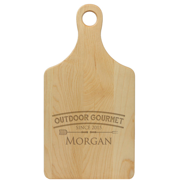 "Paddle Cutting Board ""Outdoor Gourmet"""