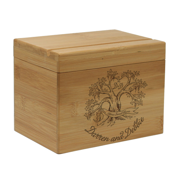 Custom Engraved Recipe Box, Personalized Recipe Box,