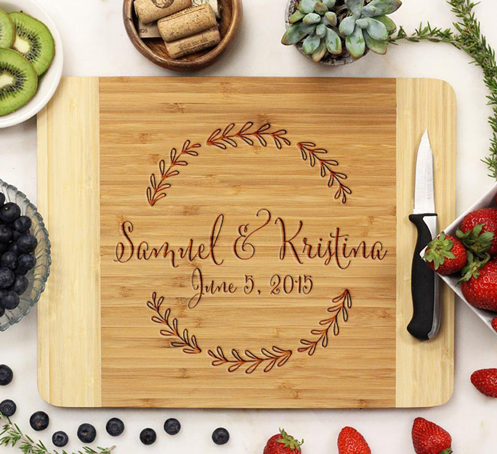 Personalized Wedding Gift Engraved Cutting Board