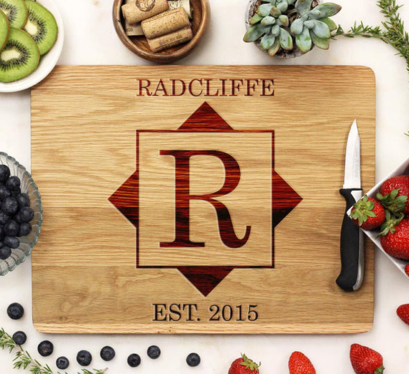 "Cutting Board ""Radcliffe Square Design"""