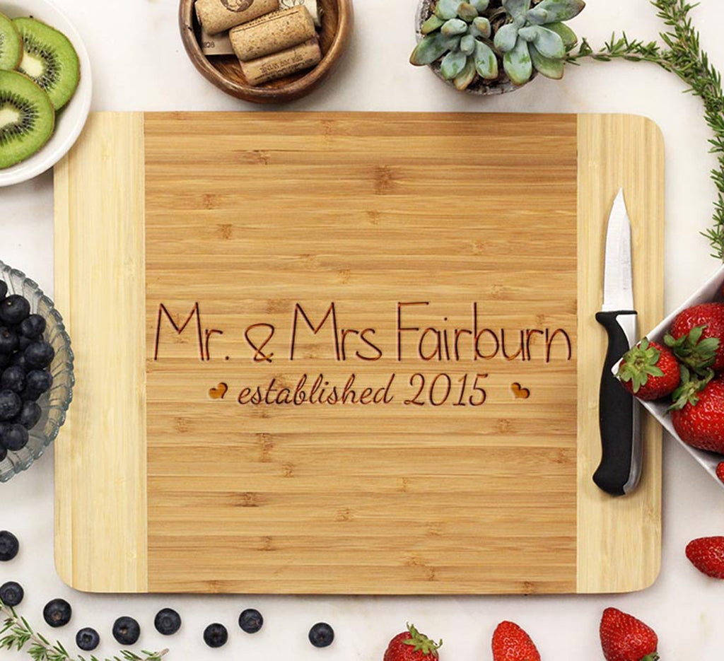 "Cutting Board ""Mr & Mrs Fairburn"""