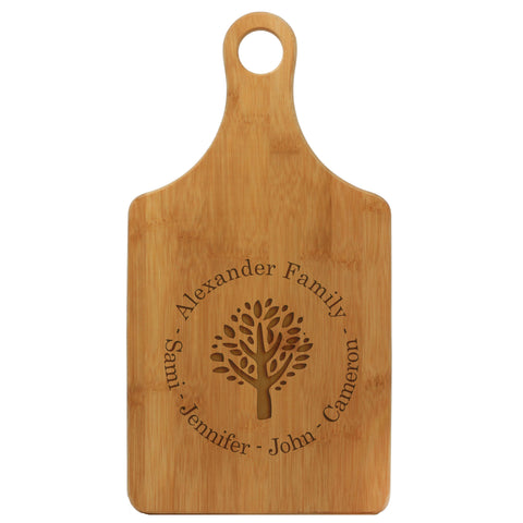 "Paddle Cutting Board ""Alexander Family Tree"""