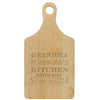"Paddle Cutting Board ""Grandma Rhonda's Kitchen"""