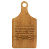 "Paddle Cutting Board ""Nana Joy's Kitchen Rules"""