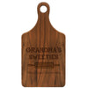 "Paddle Cutting Board ""Grandma's Sweeties"""