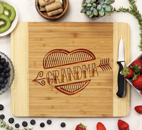 "Cutting Board ""Grandma Heart"""