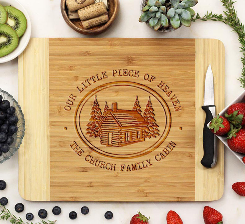 "Cutting Board ""Little Piece of Heaven Cabin"""