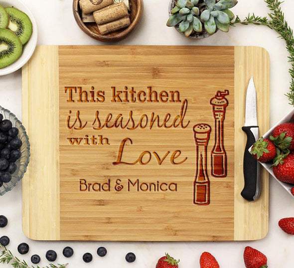 "Cutting Board ""This Kitchen is Seasoned with Love"""