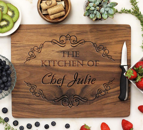 "Cutting Board ""The Kitchen of Chef Julie"""