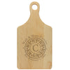 "Paddle Cutting Board ""Grotelueschen Family Filigree"""
