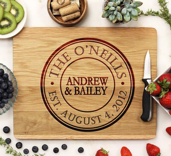 "Cutting Board ""The O'Neills"" Circle"