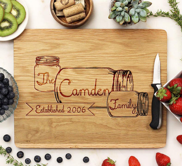 White Oak Engraved Cutting Board