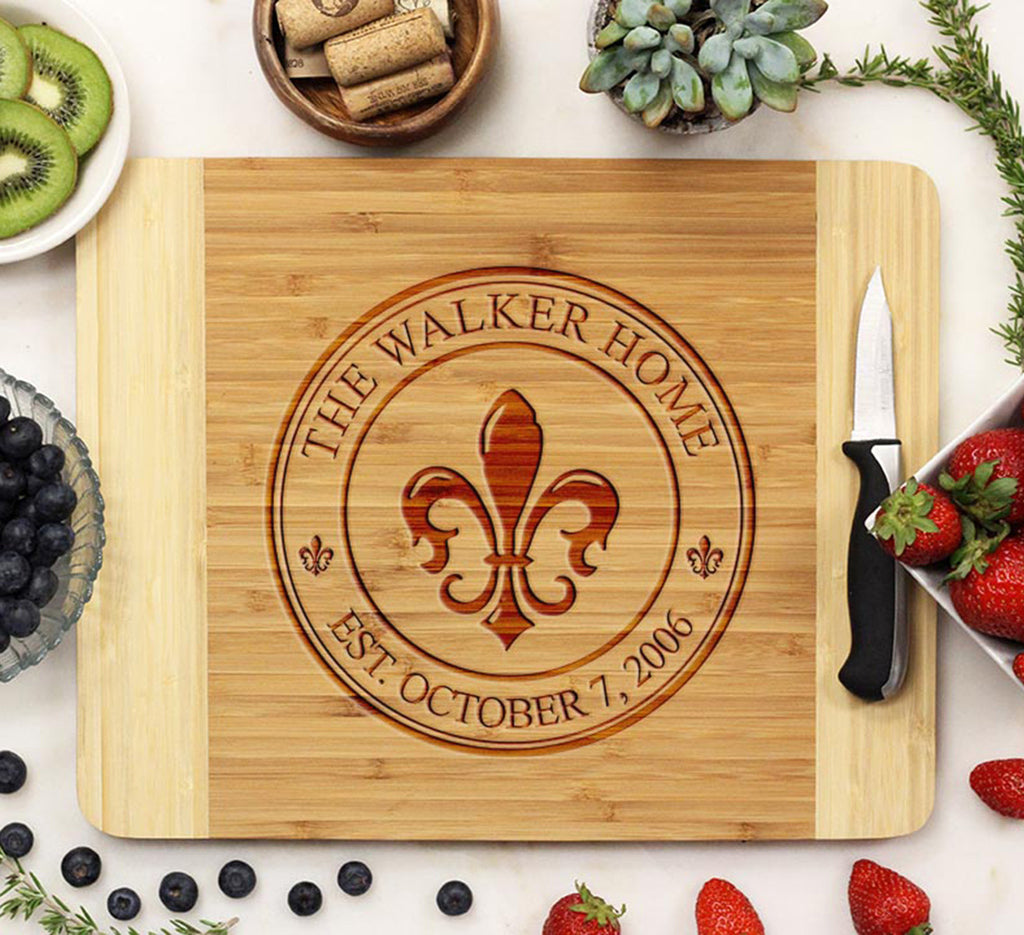 "Cutting Board ""Walker Home - Fleur-de-lis"""