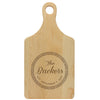 "Paddle Cutting Board ""Backers Leaf Circle"""