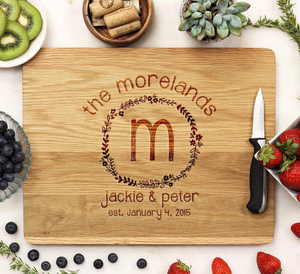 "Cutting Board ""Morelands Floral Border"""