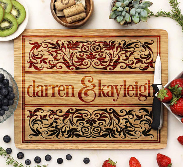 "Cutting Board ""Darren & Kayleigh"""