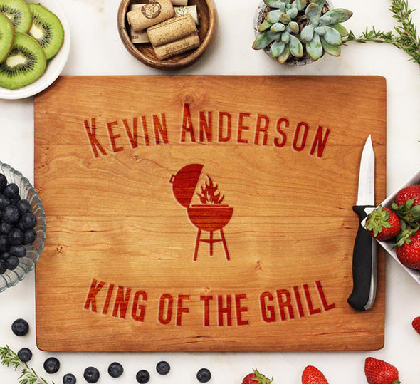 "Cutting Board ""Kevin Anderson, King of the Grill"""