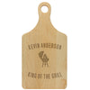 "Paddle Cutting Board ""Kevin Anderson, King of the Grill"""