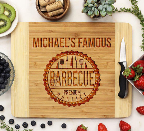 "Cutting Board ""Michael's Famous BBQ"""