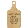 "Paddle Cutting Board ""Michael's Famous BBQ"""
