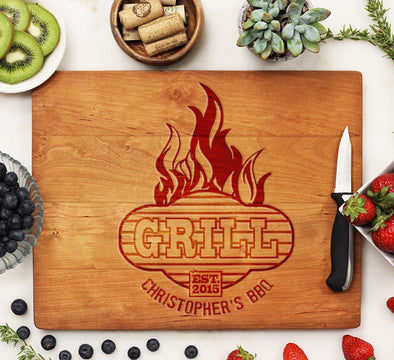 "Cutting Board ""Grill - Christopher's BBQ"""
