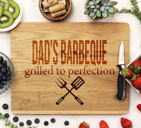 "Cutting Board ""Dad's BBQ"""