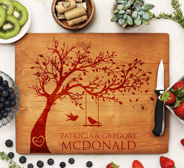 Cherry Engraved Cutting Board