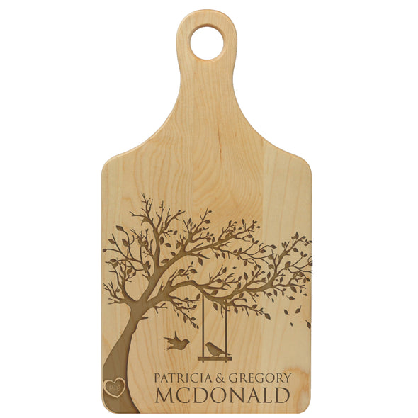 Lovebirds In A Tree Custom Cheese Board