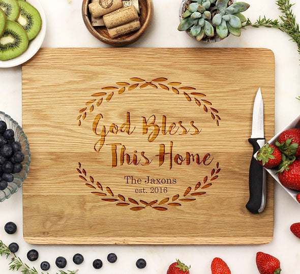 "Cutting Board ""God Bless This Home"""