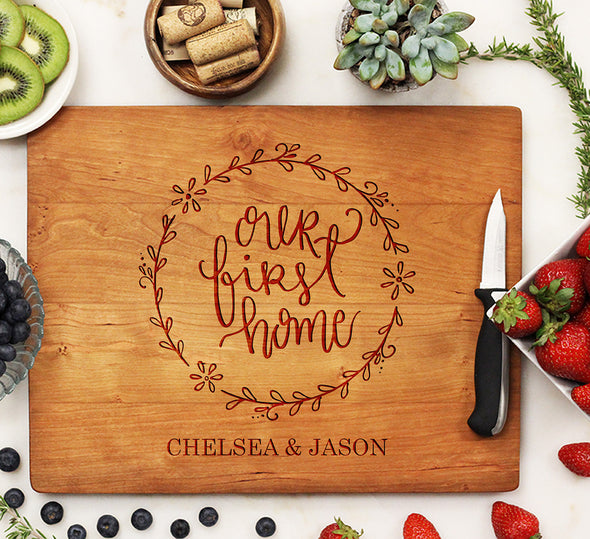 "Cutting Board ""Our First Home"""