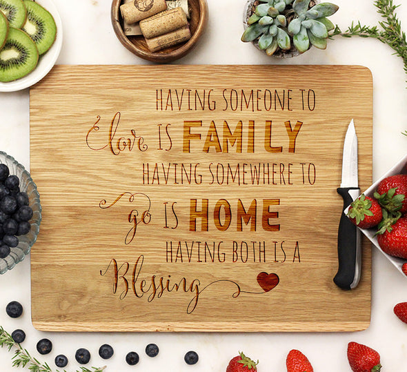 "Cutting Board ""Family Home Blessing"""