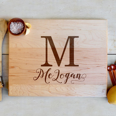 "Custom Maple Cutting Board ""McLogan"""