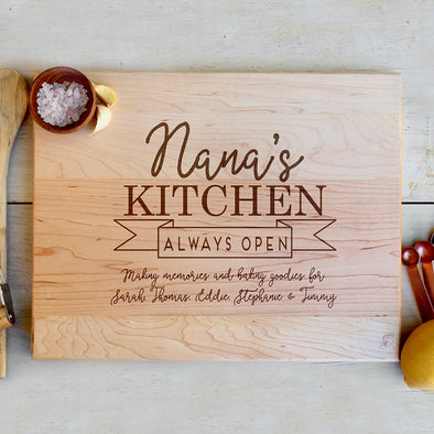 "Custom Maple Cutting Board ""Nana's Kitchen"""