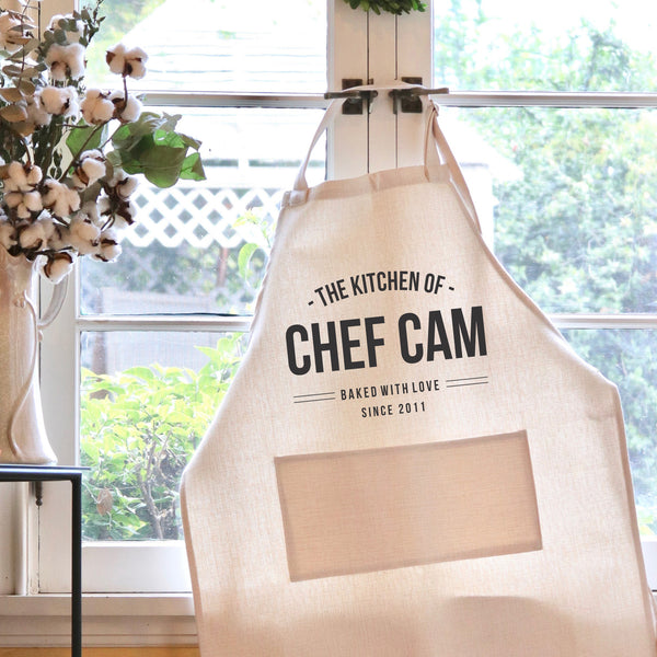 "Chef Apron, Custom Apron, Personalized Apron ""Chef Cam"""
