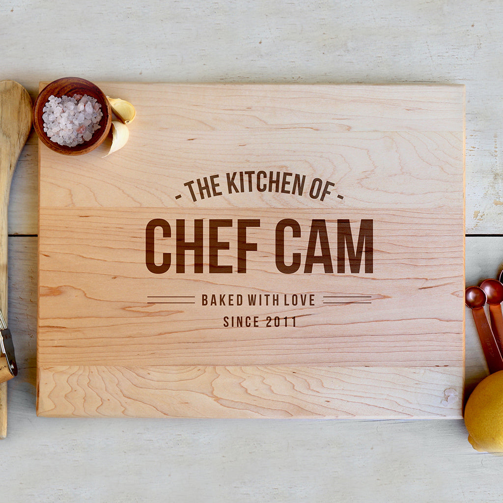 "Custom Maple Cutting Board ""Chef Cam"""