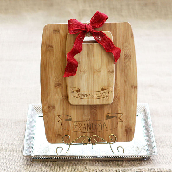 "Cutting Board Set - ""Grandma's Helper"""