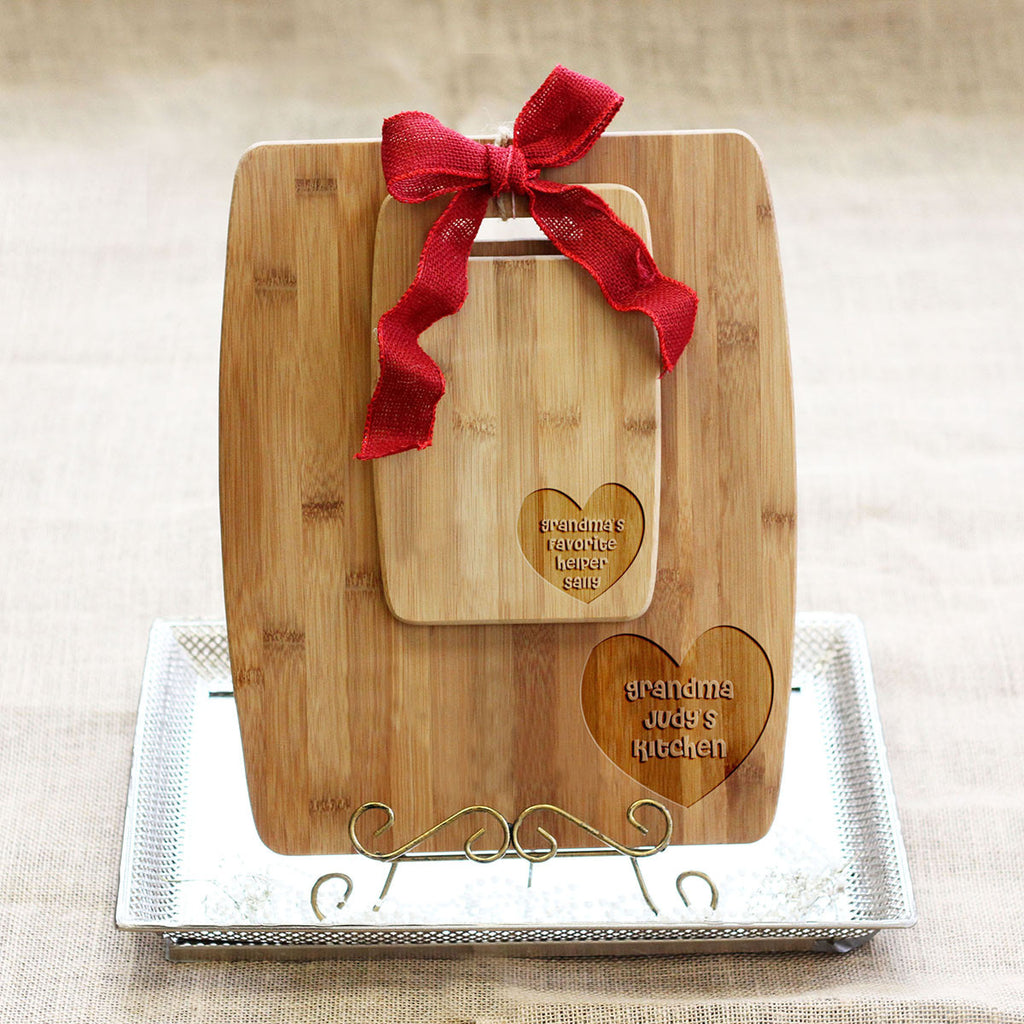 "Cutting Board Set - ""Grandma's Favorite Helper"""