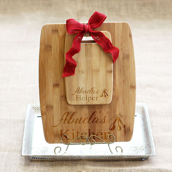 "Cutting Board Set - ""Kitchen & Helper Teaspoons"""