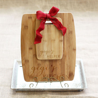 "Cutting Board Set - ""Kitchen & Helper"""