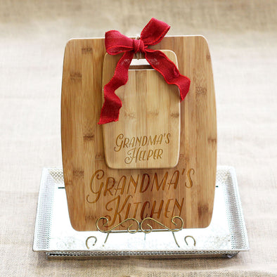 "Cutting Board Set - ""Grandma's Kitchen & Helper"""