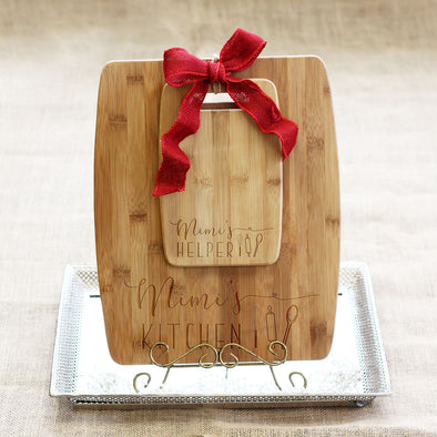"Cutting Board Set - ""Mimi's Kitchen & Helper"""