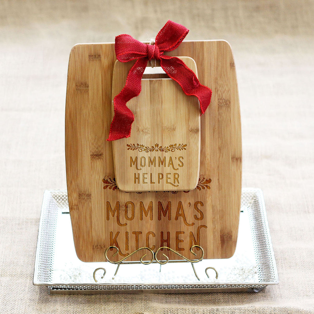 "Cutting Board Set - ""Momma's Kitchen & Helper"""