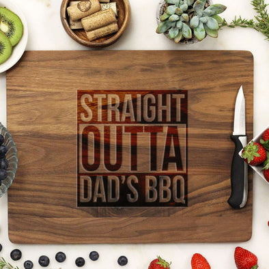 "Cutting Board ""Straight Outta Dad's BBQ"""